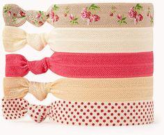 FOREVER 21+ PLUS SIZES Polka Dot & Floral Hair Tie Set