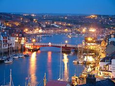 Whitby, North Yorkshire  Google Image Result for http://www.whitbyhotels.co.uk/siteimages/whitbyatnight.jpg
