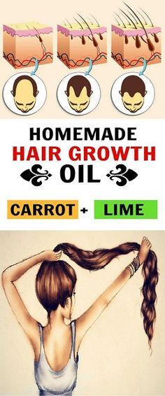 Carrot & Lime Homemade Hair Oil Recipe for Hair Growth Styles Rage Hair Growth Tips, Natural Hair Growth, Natural Hair Styles, Coconut Oil Hair Treatment, Coconut Oil Hair Mask, Oil For Curly Hair, Hair Oil, Carrot Oil For Hair, Homemade Hair Growth Oil