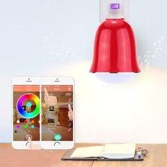 5W E26/E27 Smart Bluetooth RGBW LED Bulb BT Speaker Music Lamp Brightness/Volume Adjustable for Smartphones App Control