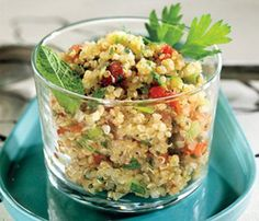 Quinoa with Spinach & Feta. It's amazing with nutritious ingredients!