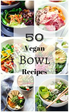 We've scoured the interwebs to put together this list of 50 of the best and most beautiful vegan bowl recipes. These include some of our all-time favorite recipes and some happy new discoveries from fellow bloggers. So whether you're a seasoned vegan bowl
