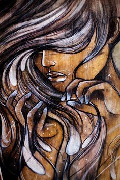 Street art, upper Haight district in San Francisco, California. African American Art, African Art, Illustrations, Illustration Art, Street Photography, Art Photography, Art Africain, Wow Art, Afro Art