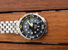 Seiko SRP639K1 with Marine Master dial, Sumo chapter, Saphir glass and Armband strap