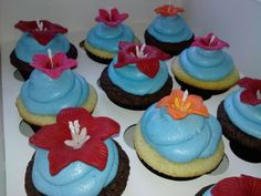 Hawaiian Themed  How to make Fondant here.