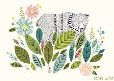Bear illustration for Harper's roon