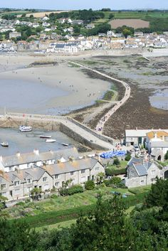 View from St Michaels Mount, Cornwall, UK. I have seen that sight for myself and been in everyone of those houses.