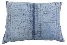 "Batik Pillow  Yao Hill Tribes of Southeast Asia  22""L x 16""W  ($415.00)  $235.00  OneKingsLane.com"