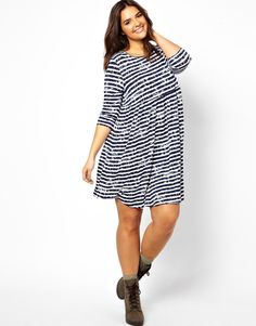 Discover the latest fashion and trends in menswear and womenswear at ASOS. Shop this season's collection of clothes, accessories, beauty and more. Latest Fashion Clothes, Curvy Fashion, Fashion Dresses, Smock Dress, Dress Skirt, Plus Size Fashionista, Asos Curve, Online Shopping Clothes, Smocking
