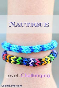How to Make the Nautique Rainbow Loom Bracelet; Really useful if your making a business with it!