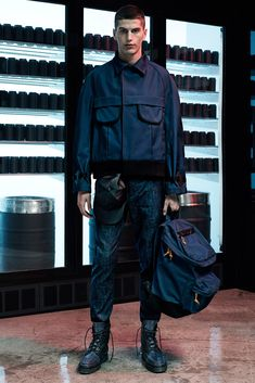 Collared Bomber Alexander Wang Spring 2015 Menswear - Collection - Gallery - Style.com