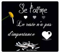 Le reste n'a pas d'importance - Coeurs, Margu. Witty Quotes, Valentine's Day Quotes, Top Quotes, Daily Quotes, Best Quotes, Tu Me Manques, Just You And Me, Love Valentines, Valentine Sday