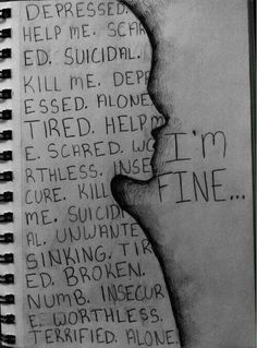 depressed depression sad suicidal suicide dark self harm cut cutter anorexia bulimia ednos anorexic sadness KNIFE bulimic blade slice Sad Drawings, Sketchbook Drawings, What To Draw, Belle Photo, Cool Art, Doodles, Sketches, Thoughts, Feelings