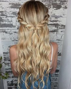 Braid half up half down hairstyle ideas,prom hairstyles,half up half down hairstyles,hairstyle for long hair (prom updo for long hair) Hair Wedding hairstyles half up half down wavy loose waves 27 Ideas Easy Hairstyles For Long Hair, Braids For Long Hair, Hairstyle Ideas, Easy Prom Hairstyles, Simple Homecoming Hairstyles, Hairstyles For Graduation, Half Braided Hairstyles, Cute Down Hairstyles, Box Braids