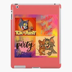 'tom and Jerry cartoon design ' iPad Case/Skin by Madhuri Mahajan Tom And Jerry Cartoon, Art Text, Lip Designs, Cartoon Design, Iphone Wallet, Ipad Case, Winnie The Pooh, It Works