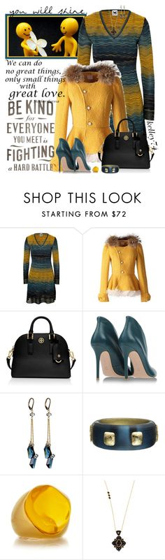 """""""Love, Kindness, & a Positive Attitude"""" by kelley74 ❤ liked on Polyvore featuring M Missoni, Tory Burch, Gianvito Rossi, Sophia & Chloe, Alexis Bittar, Kenneth Jay Lane and Miguel Ases"""