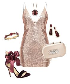 """""""Untitled #12"""" by shaim98 ❤ liked on Polyvore featuring Gianvito Rossi, Badgley Mischka, Kendra Scott, Nine West and LE VIAN"""
