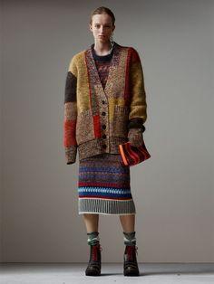 Designs im Strickmuster-Patchwork für Damen | Burberry