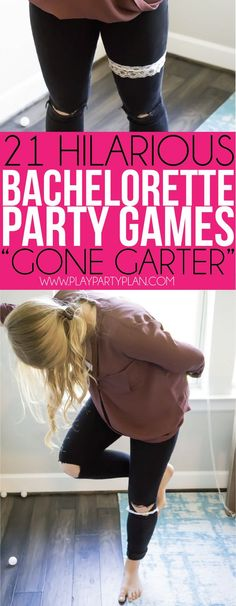 This gone garter game is one of the most hilarious bachelorette party games out there