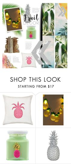 """""""do you like pina coladas?"""" by meadowbat ❤ liked on Polyvore featuring interior, interiors, interior design, home, home decor, interior decorating, Greendale Home Fashions, Urban Outfitters, Flamingo Candles and Goodnight Light"""