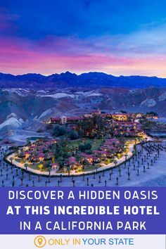 This Southern California hotel is an oasis in the desert! The Ranch At Death Valley is rustic, charming, and overflowing with amenities. It's perfect for a romantic weekend or girlfriend getaway. Spring and fall are among the best times to travel here! California National Parks, Southern California, Spring Break Vacations, Famous Beaches, Death Valley National Park, Unique Hotels, Local Attractions, Amazing Adventures, The Ranch