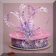 Purple flower ribbon