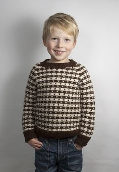 Image of Klassisk Strik Sweater Med Lus, OPSKRIFT,model 071 str. 4-9 år , Model 075 str.1-3 år