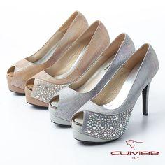 2980- 奢華名媛 璀璨水鑽魚口高跟鞋-淺灰色 - Peeps, Peep Toe, Shoes, Fashion, Moda, Zapatos, Shoes Outlet, Fashion Styles, Shoe