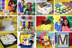 Art Themed Birthday Party | CatchMyParty.com