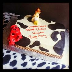 Cowboy themed baby shower cake ~ Second Generation Cake Design