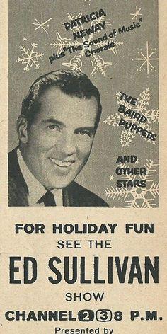 The Ed Sullivan Show Christmas special, 1959