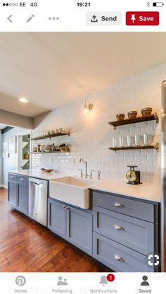 Country Kitchen, Home Kitchens, New Homes, Kitchen Cabinets, Kitchen Inspiration, Kitchen Ideas, House, Home Decor, Decoration Home
