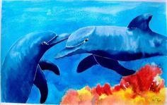 Comprar dos delfines - Pintura de pipo jost nicolas por 2.270,00 ARS (2015/03/21) en Artelista.com, con gastos de envío y devolución gratuitos a todo el mundo