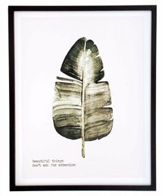 Lehti taulu kehyksillä 45x57 cm