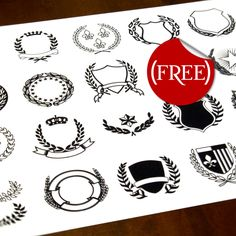 Vector Crests (FREE) by Ray Dombroski, via Behance