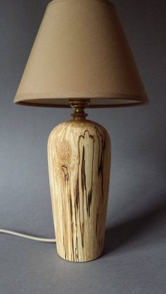 Table/Bedside Lamp ( Spalted Birch ) by Devonturnings on Etsy