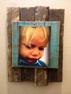 Pallet wood burlap wall photo holder 15x22 by Uniqueboutiquefromaz, $40.00