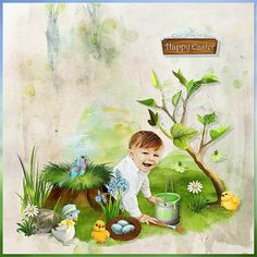 Easter With The Friends of the Forest by Kitty Scrap Photo Iga Logan