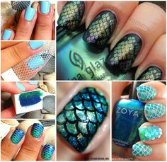 30+ Classic Mermaid Nails art ideas--> http://wonderfuldiy.com/30-classic-mermaid-nails-art-design/ #diy #nailar