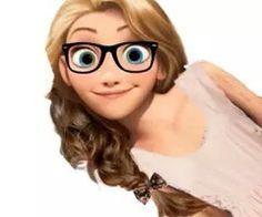 Modern Rapunzel with glasses. Hipster Princess, Hipster Disney, Disney Princess Fashion, Modern Princess, Cute Disney, Disney Girls, Disney Rapunzel, New Disney Princesses, Disney Princess Drawings