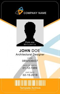 Id Card Template Word Beautiful 16 Id Badge & Id Card Templates Free Template Archive Holiday Party Invitation Template, Wedding Favor Printables, Id Card Template, Card Templates, Templates Free, Design Templates, Memo Format, Sign Up Sheets, Free Id