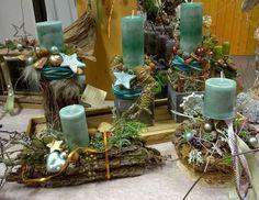 Hezky bledě modré vánoční tvoření