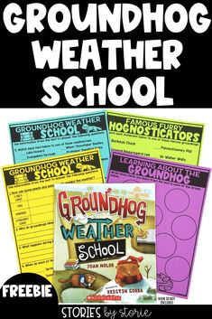 Groundhog Day is always February 2nd, so why does it feel like the holiday sneaks up on me each and every year? Whether the groundhog sees his shadow or not, one book you should share with your students is Groundhog Weather School by Joan Holub and Kristin Sorra. This book takes a closer look at Groundhog Day and weather through the eyes of the groundhogs. I also want to share a few activities you can pair with this book.