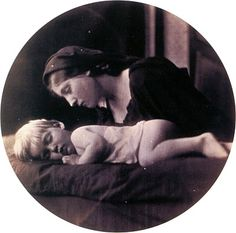 Photograph woman and sleeping child - 1865