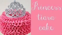 Princess Tiara and Buttercream Ruffle Cake Tutorial - http://cakesmania.net/princess-tiara-buttercream-ruffle-cake-tutorial/