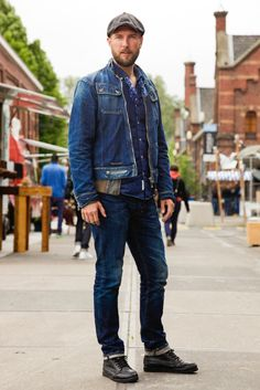 On the streets of Amsterdam during Denim Days.