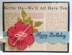 Quick & Easy Cards - using Mixed Bunch, Embossing Powder and Bring on the Cake