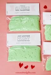 Printable Valentine for Kids: Flubber for Preschool and Elementary Classes. Printable Valentine for Kids | Flubber Valentines | Classroom Valentines. Awesome candy-free idea for class Valentines! Printable with 4 different cards and instructions for only $3.
