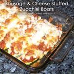 RECIPE: Primal Sausage & Cheese Stuffed Zucchini Boats