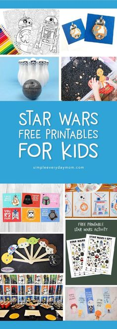FREE Star Wars Printables For Kids That Are Out Of This World - Star Wars Printables - Ideas of Star Wars Printables - Free Star Wars Printables For Kids Lego Activities, Printable Activities For Kids, Free Printables, Bubble Activities, Holiday Activities, Star Wars 5, Star Wars Kids, Star Wars Party Games, Star Wars Birthday Games